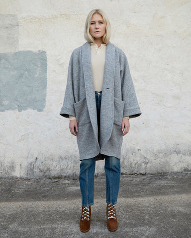 CORA DUSTER - HARBOR GREY WOOL