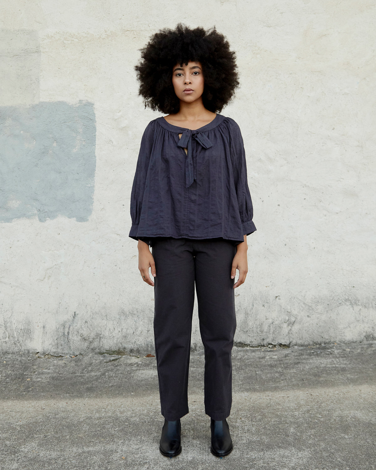 LUNA TOP - MIDNIGHT WINDOWPANE