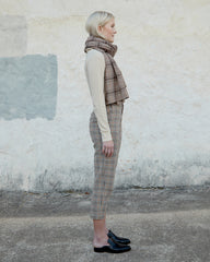 DYLAN SCARF - BROWN VINTAGE PLAID