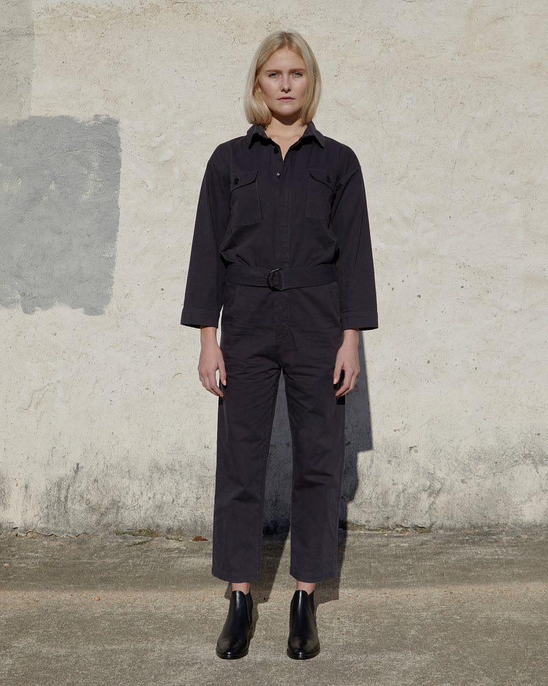 Load image into Gallery viewer, SHAUN JUMPSUIT - DARK CHARCOAL