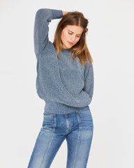 ANDY FISHERMAN SWEATER - DENIM BLUE