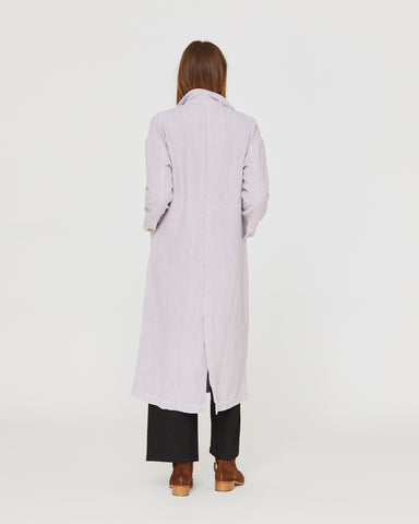 BARONNE LINEN DUSTER - LILAC