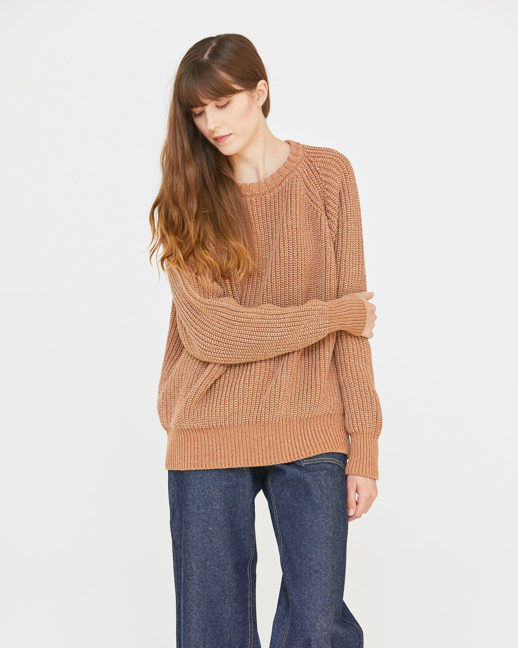 ANDY FISHERMAN SWEATER - DENIM CLOVE