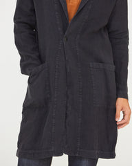 NICHOLAS LINEN TRENCH - MIDNIGHT