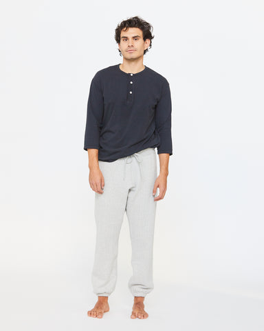 LUCA LEISURE PANT - HEATHER CONCRETE