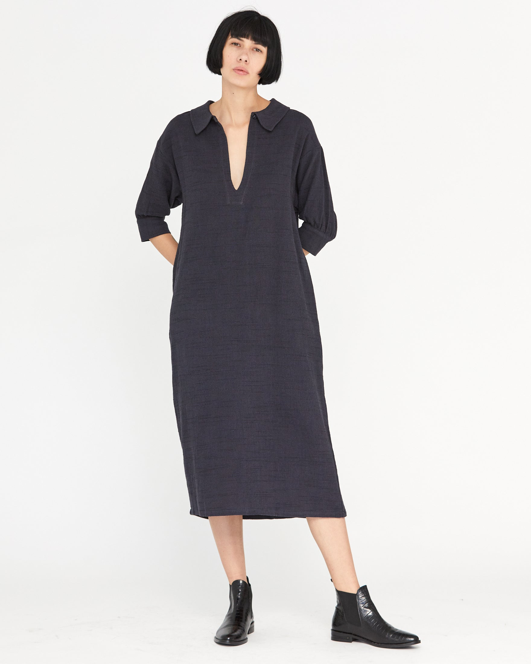 CORINA SHIFT DRESS - MIDNIGHT