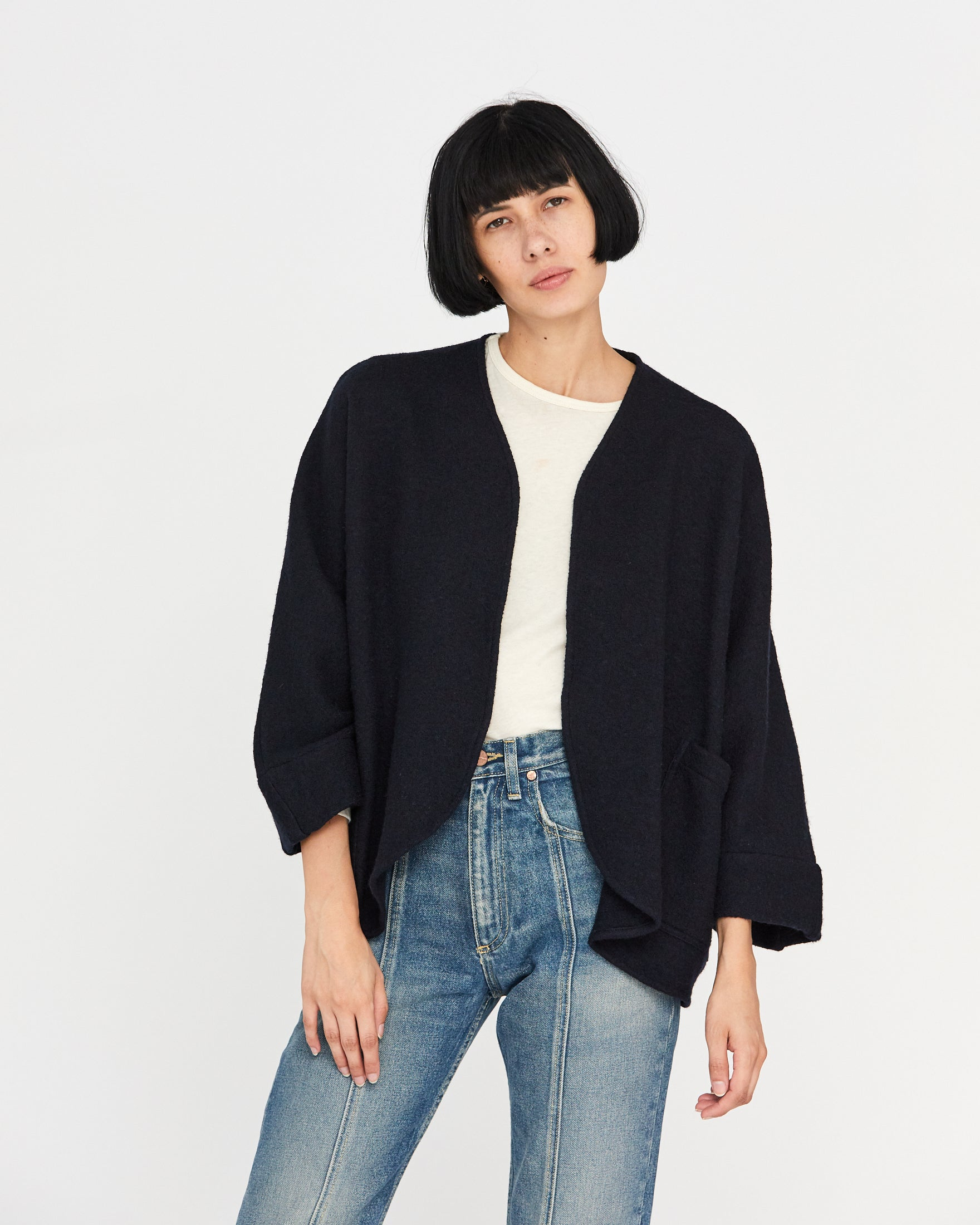 ZOLA WOOL CARDIGAN - NAVY