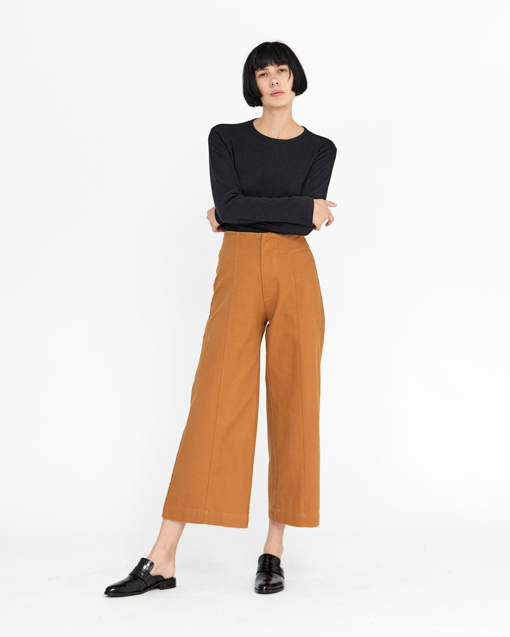 LUCIA ANKLE PANT - CLOVE