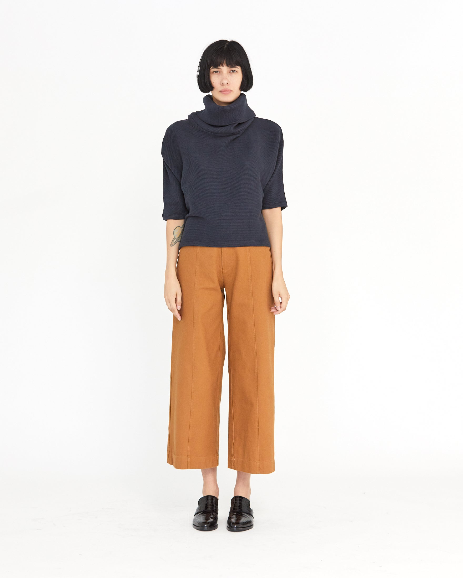 MESA DOLMAN RIB TURTLENECK - MIDNIGHT