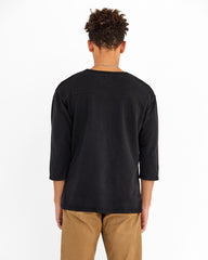 MEN'S 3/4 SLEEVE LIFETIME CREW - BLACK
