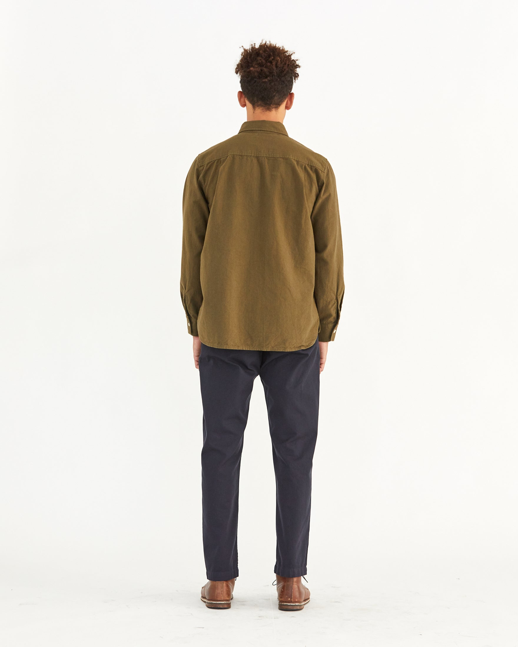 PERCY BUTTON DOWN - MOSS