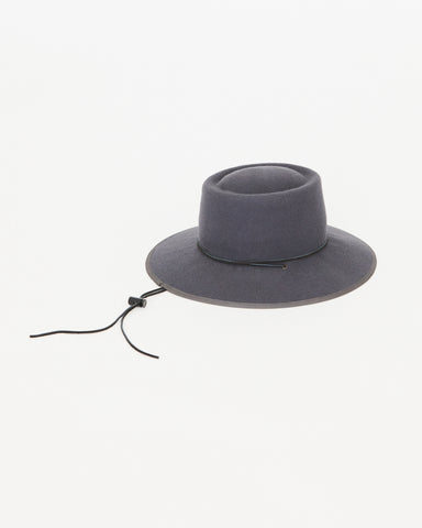 BROOKES BOSWELL - ALDERMAN HAT - GREY WOOL FELT