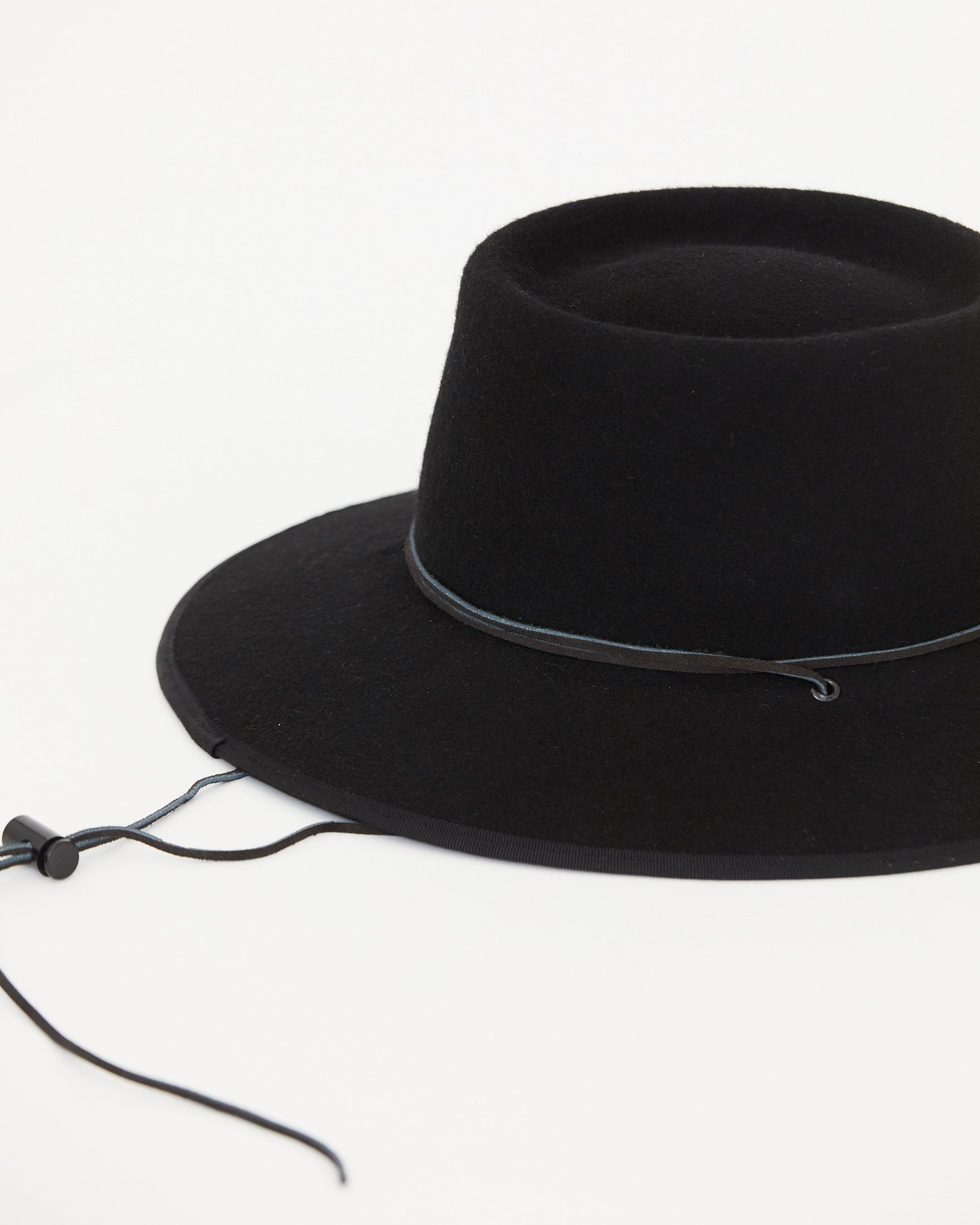 BROOKES BOSWELL - ALDERMAN HAT - BLACK WOOL FELT