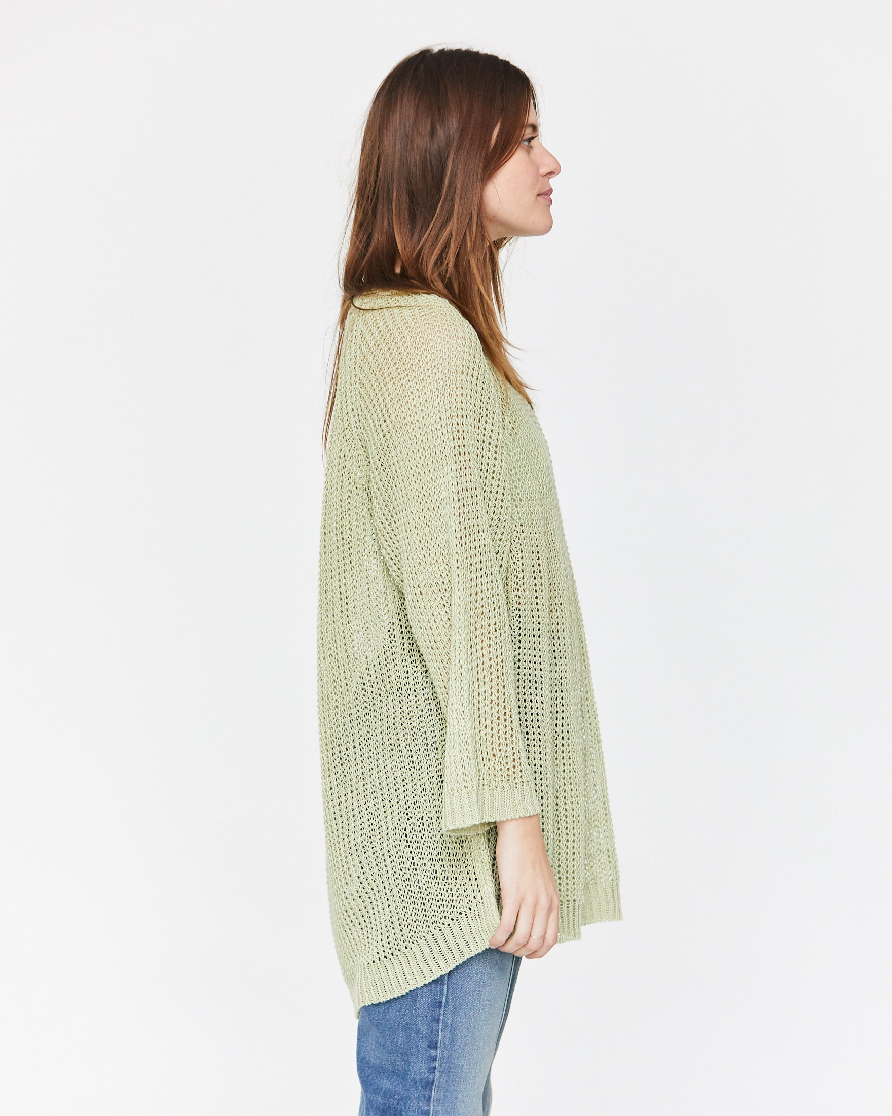 LUCY LINEN SWEATER - SEA GLASS
