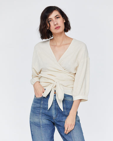 COLETTE WRAP TOP - NATURAL