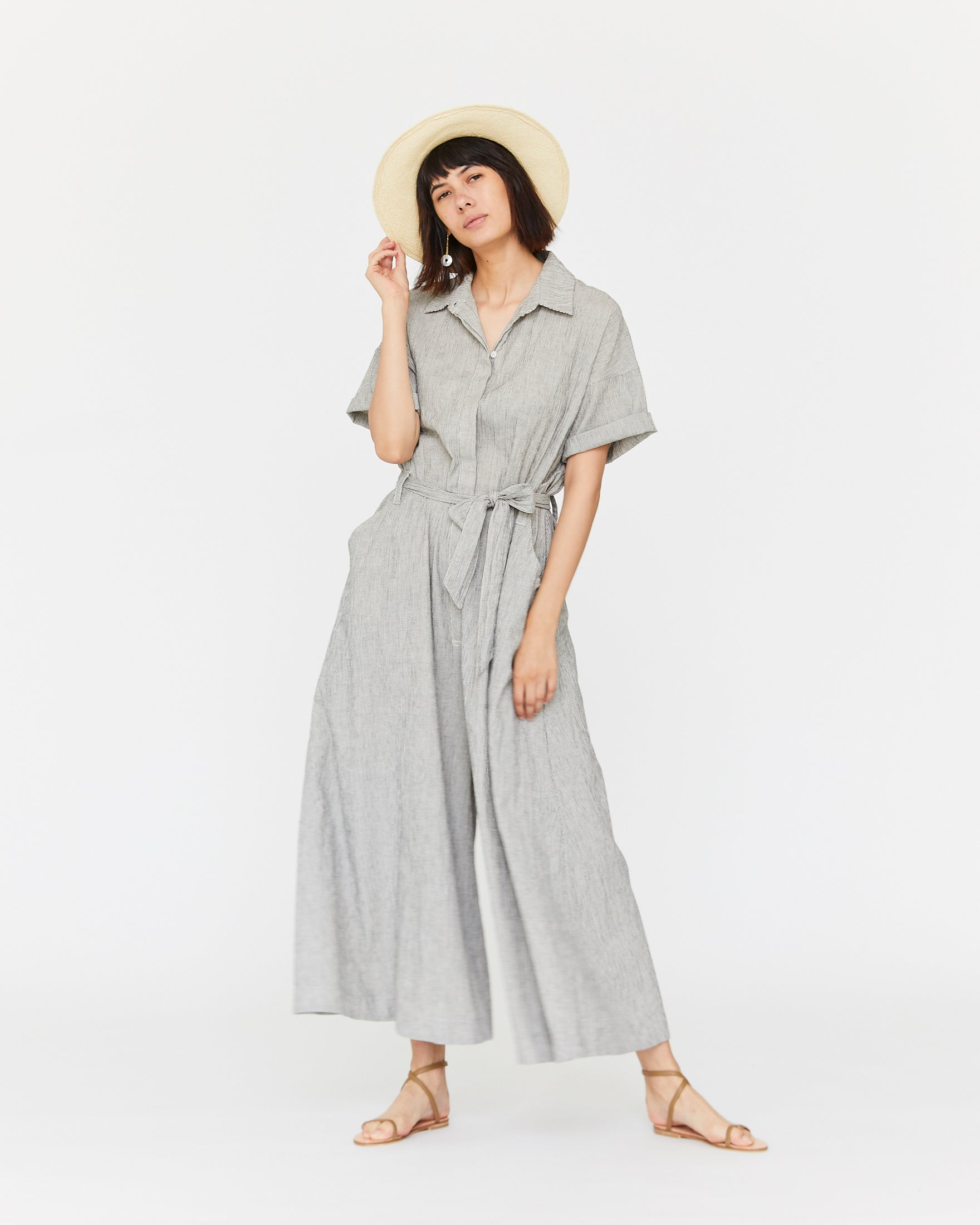 SAVANNAH JUMPSUIT - COCKTAIL STRIPE