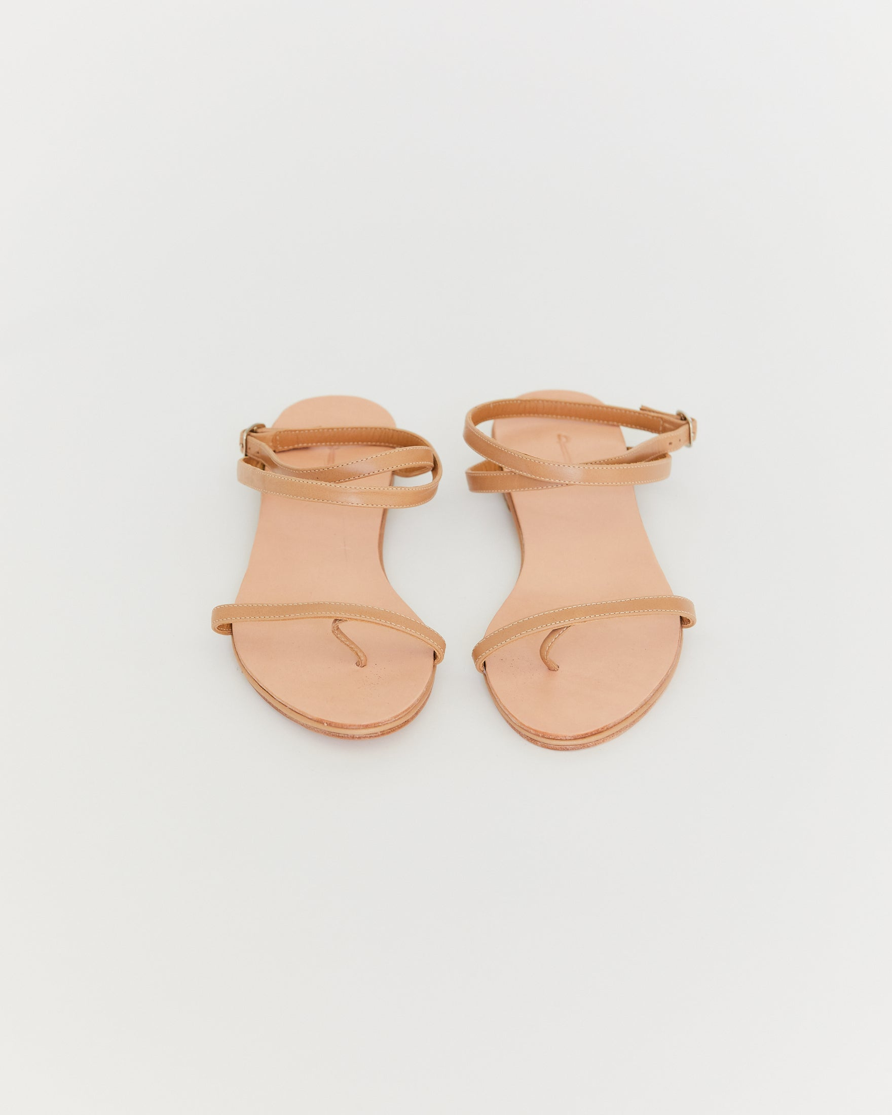 THE PALATINES - CALIDE SANDAL - TAN SMOOTH LEATHER
