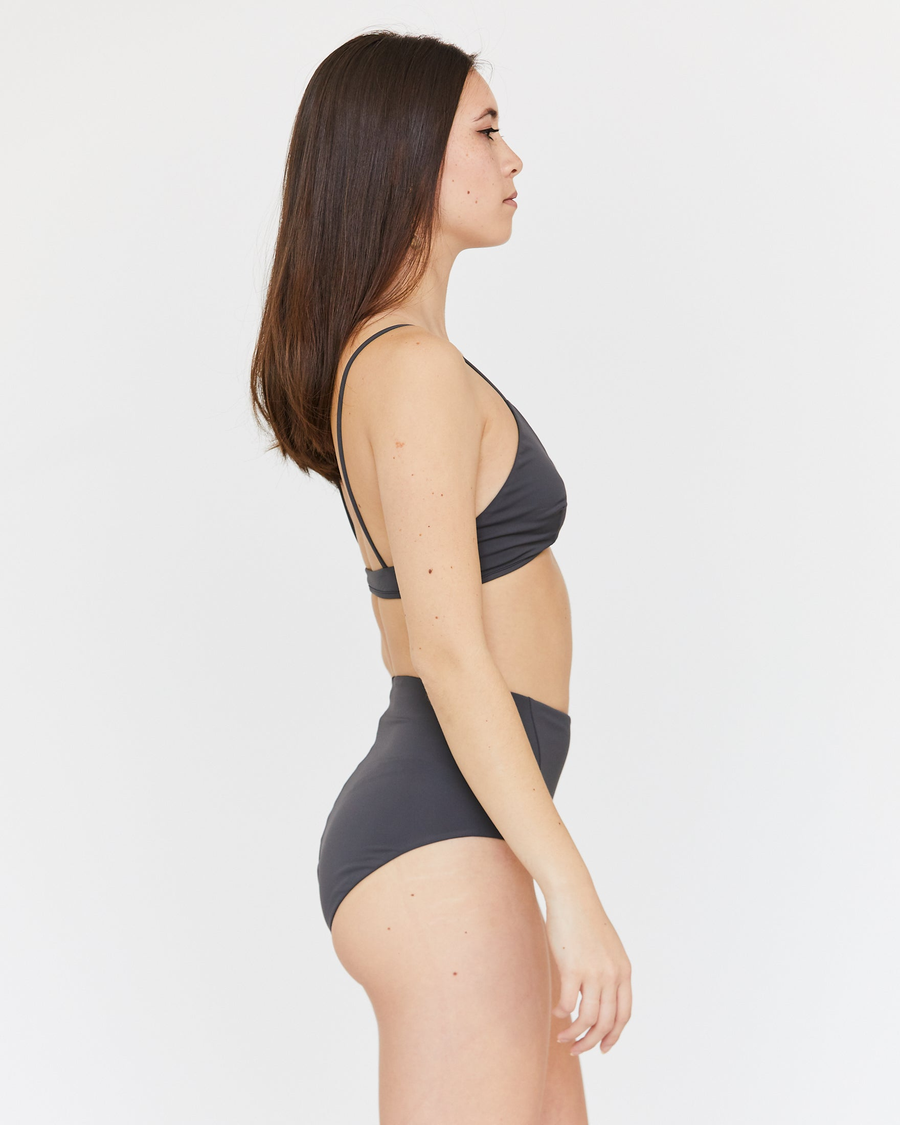 LINDA HIGH-WAIST BOTTOM - SLATE
