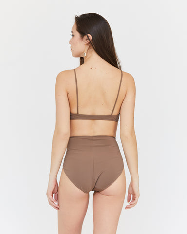 LINDA HIGH-WAIST BOTTOM - PECAN