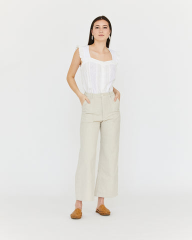 FINCH CANVAS PANT - NATURAL