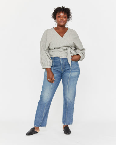 COLETTE WRAP TOP - COCKTAIL STRIPE