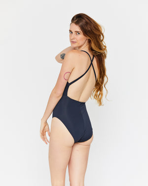 MARIA CUT OUT ONE-PIECE - MIDNIGHT