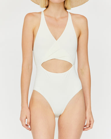 MARIA CUT OUT ONE-PIECE - WHITE SAND