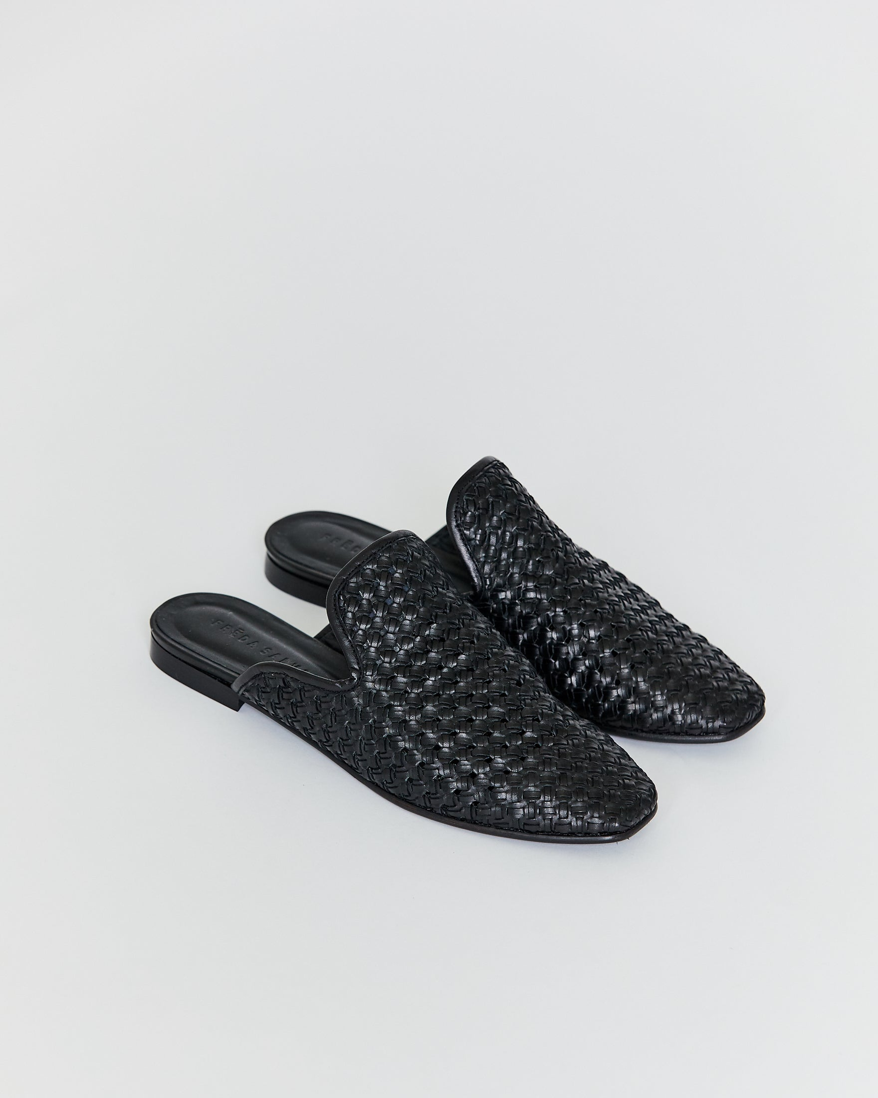 FREDA SALVADOR - MURPHEY SLIP ON - BLACK WOVEN