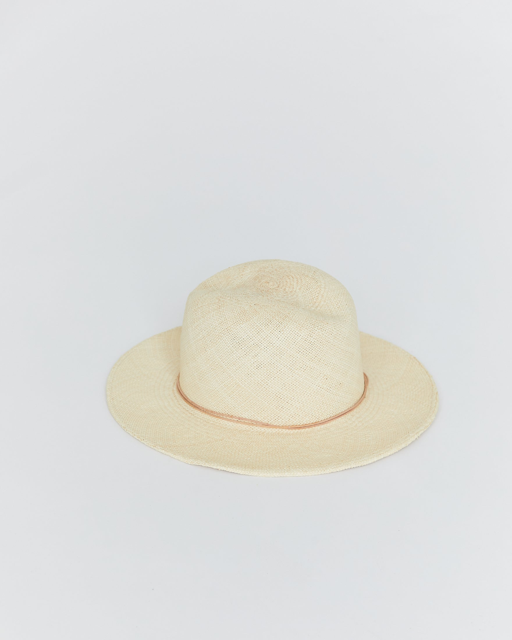 BROOKES BOSWELL - JACKSON HAT - NATURAL PANAMA STRAW
