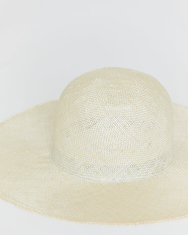 BROOKES BOSWELL - SIMPLE SUNHAT - COARSE SISAL STRAW