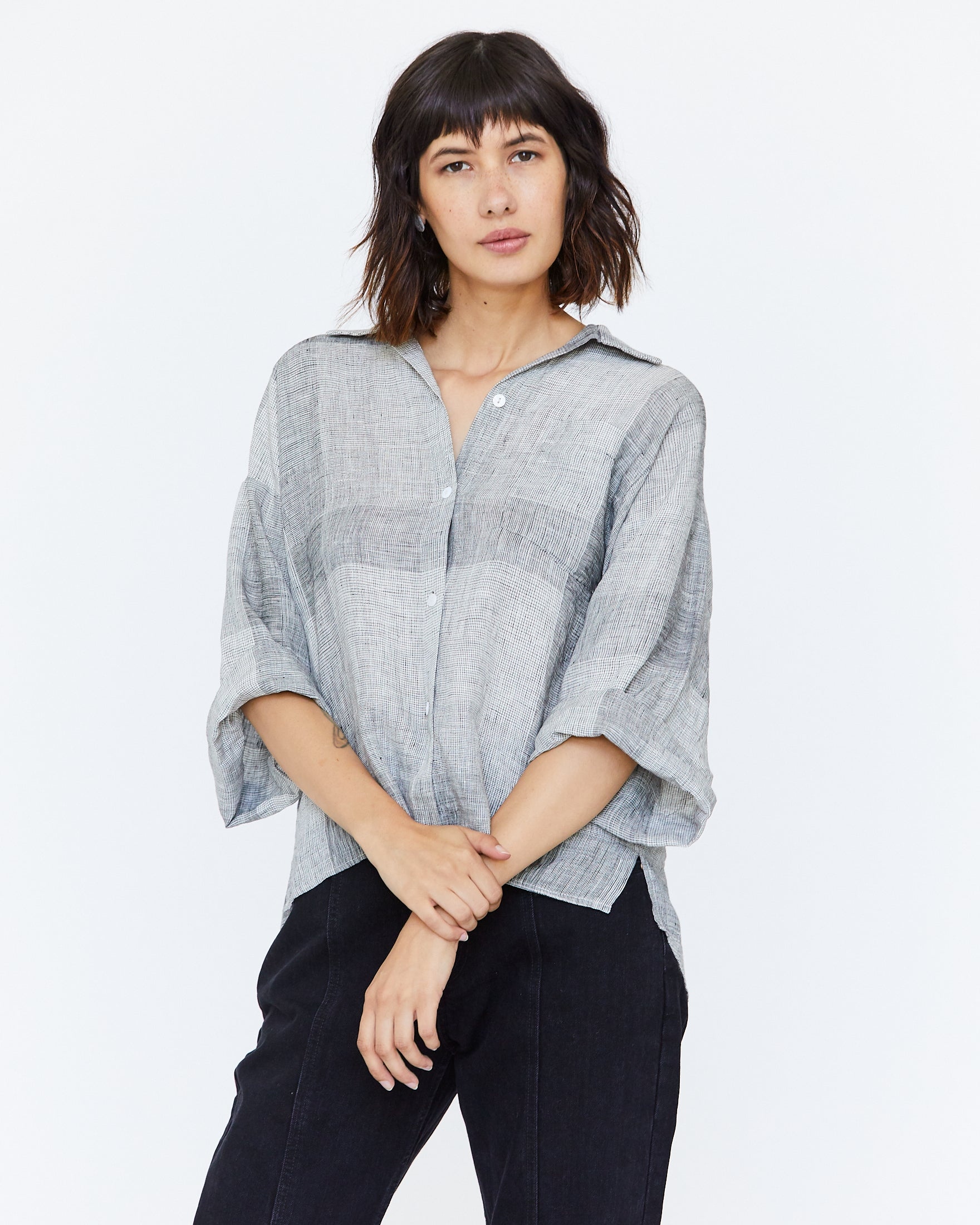GLENN BOXY BUTTON DOWN - BROKEN PLAID