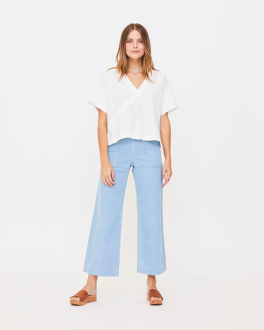 NAOMI BOXY TOP - CRISP WHITE