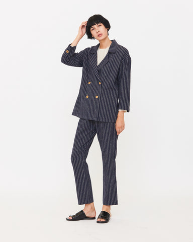 PALOMA BLAZER - NAVY/NATURAL STRIPE
