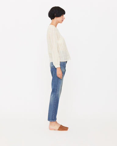 ELAINA BLOUSE - NATURAL