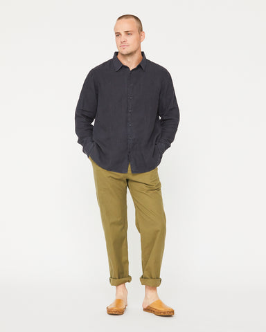 PERCY BUTTON DOWN - MIDNIGHT