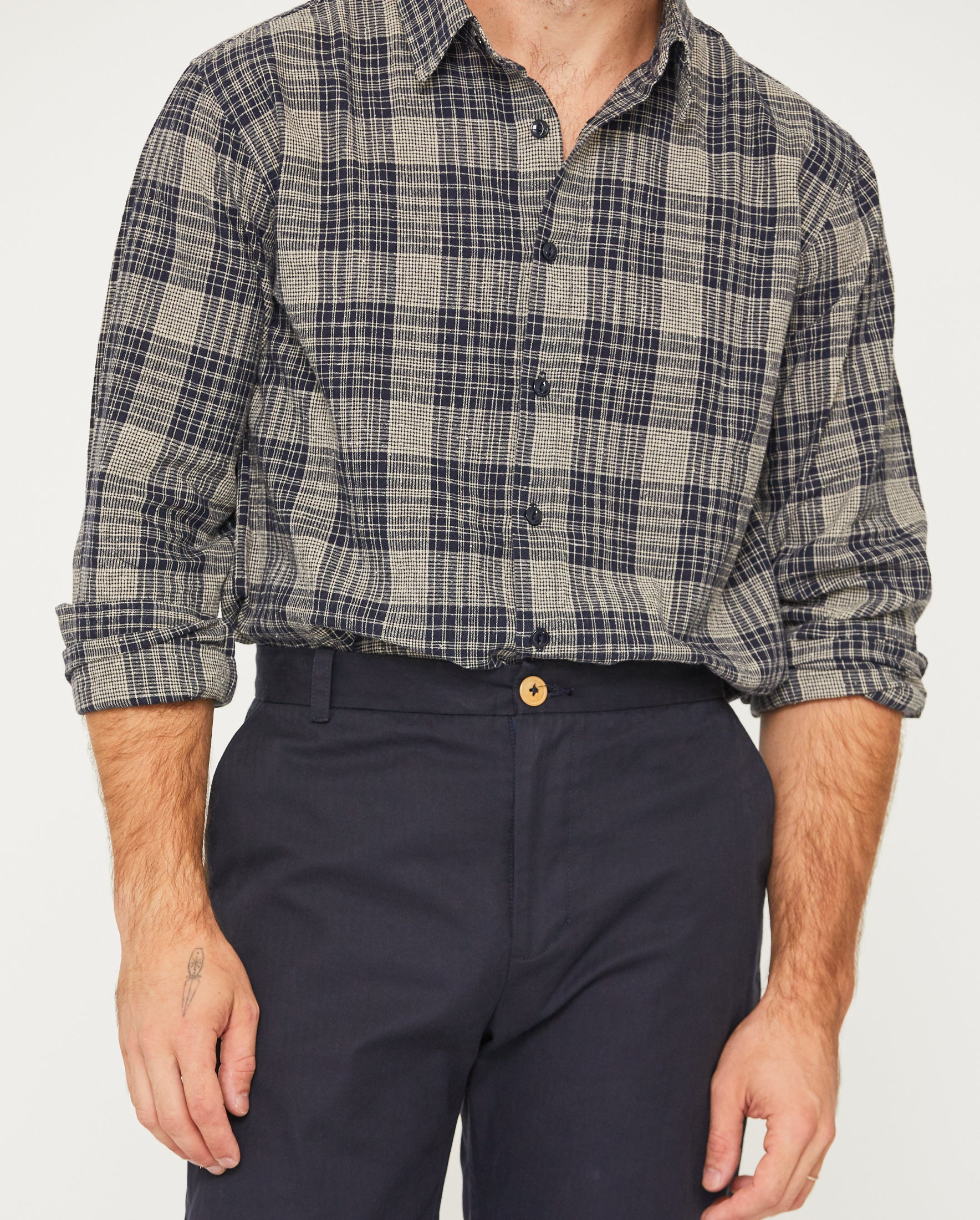 PERCY BUTTON DOWN - MIDNIGHT PLAID