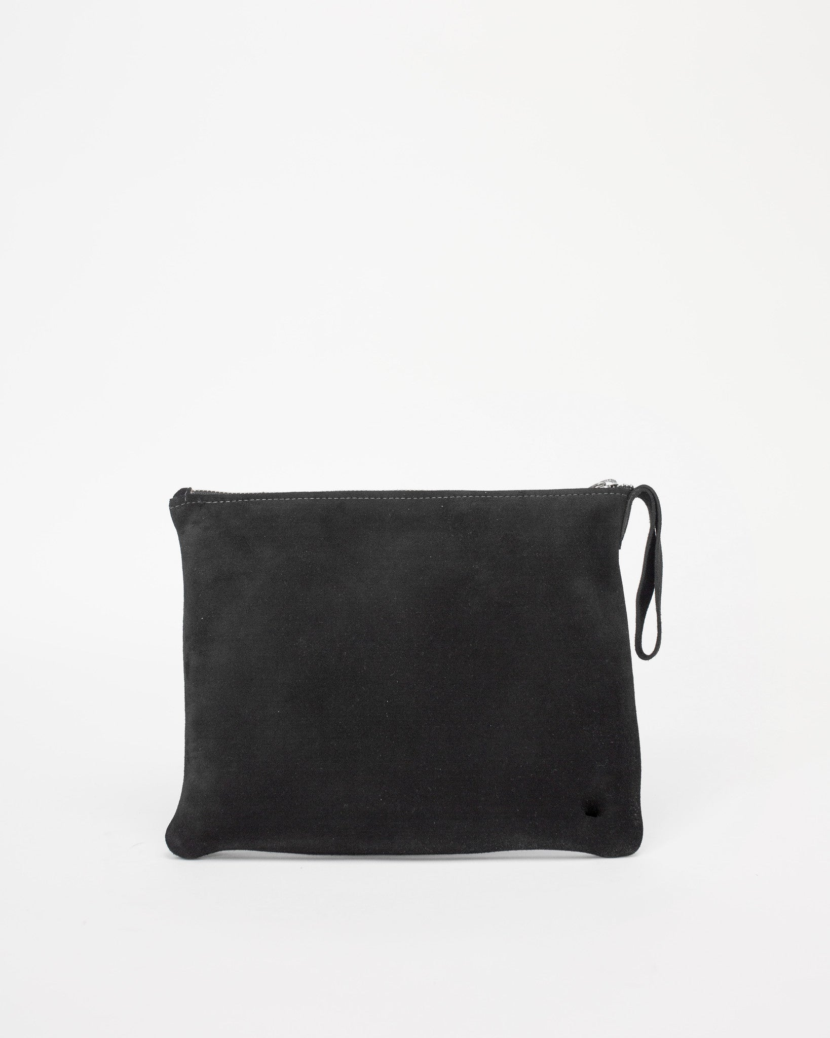 ESBY CLUTCH - BLACK SUEDE