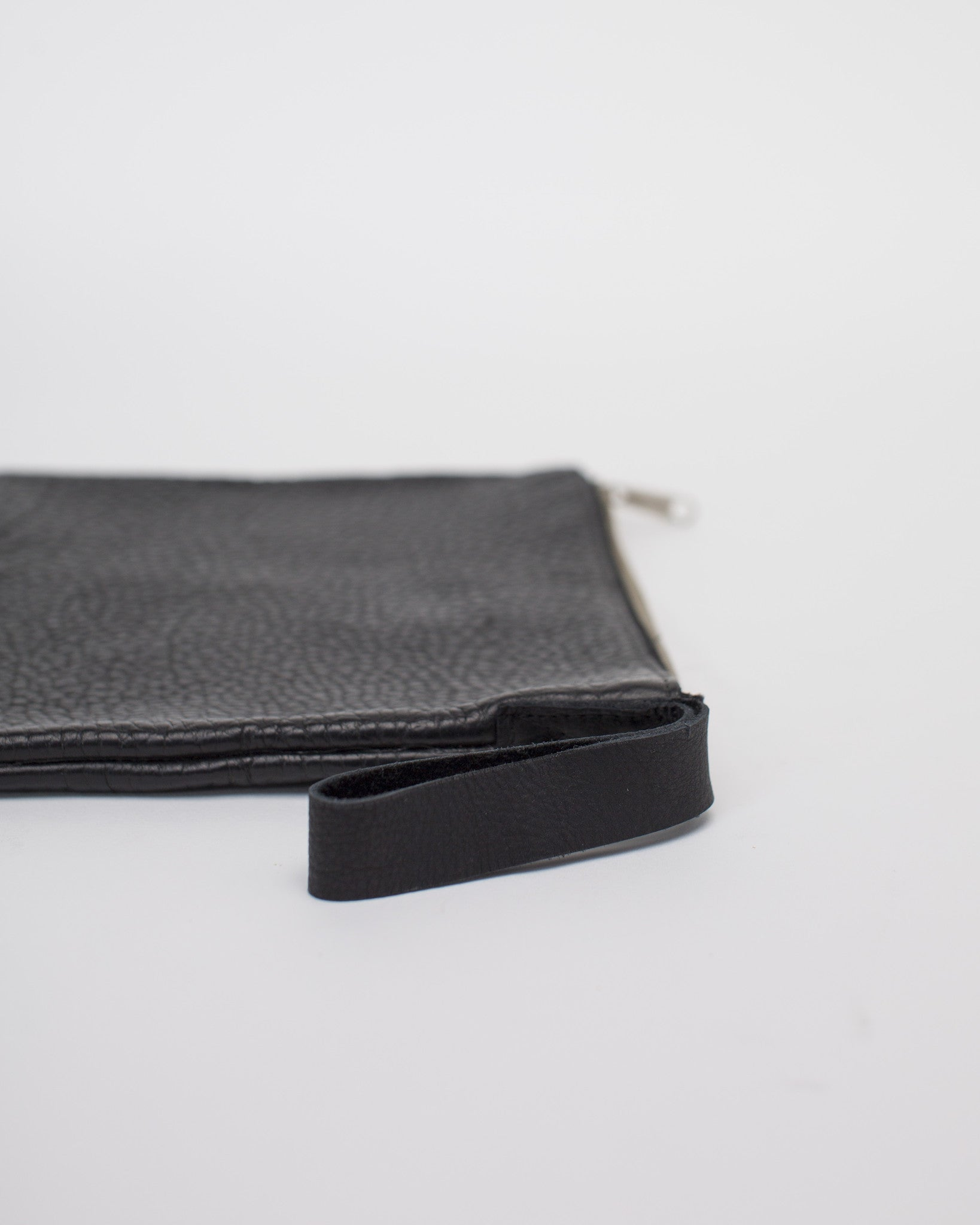 esby apparel leather bag pebbled bison clutch
