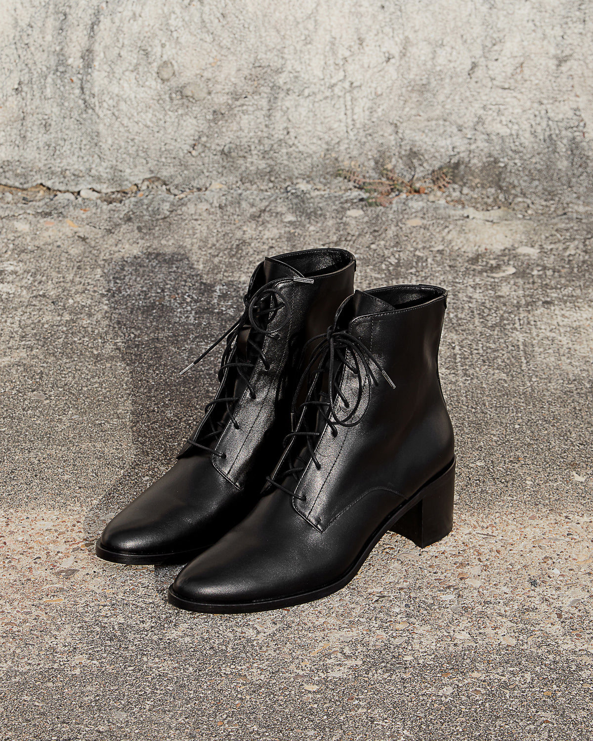FREDA SALVADOR - ACE BOOT - BLACK CALFSKIN