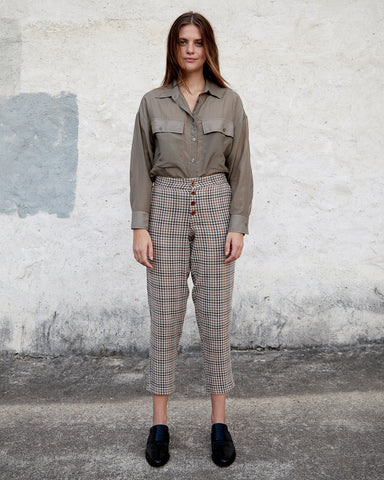 NOELLE PANT - BROWN VINTAGE CHECK