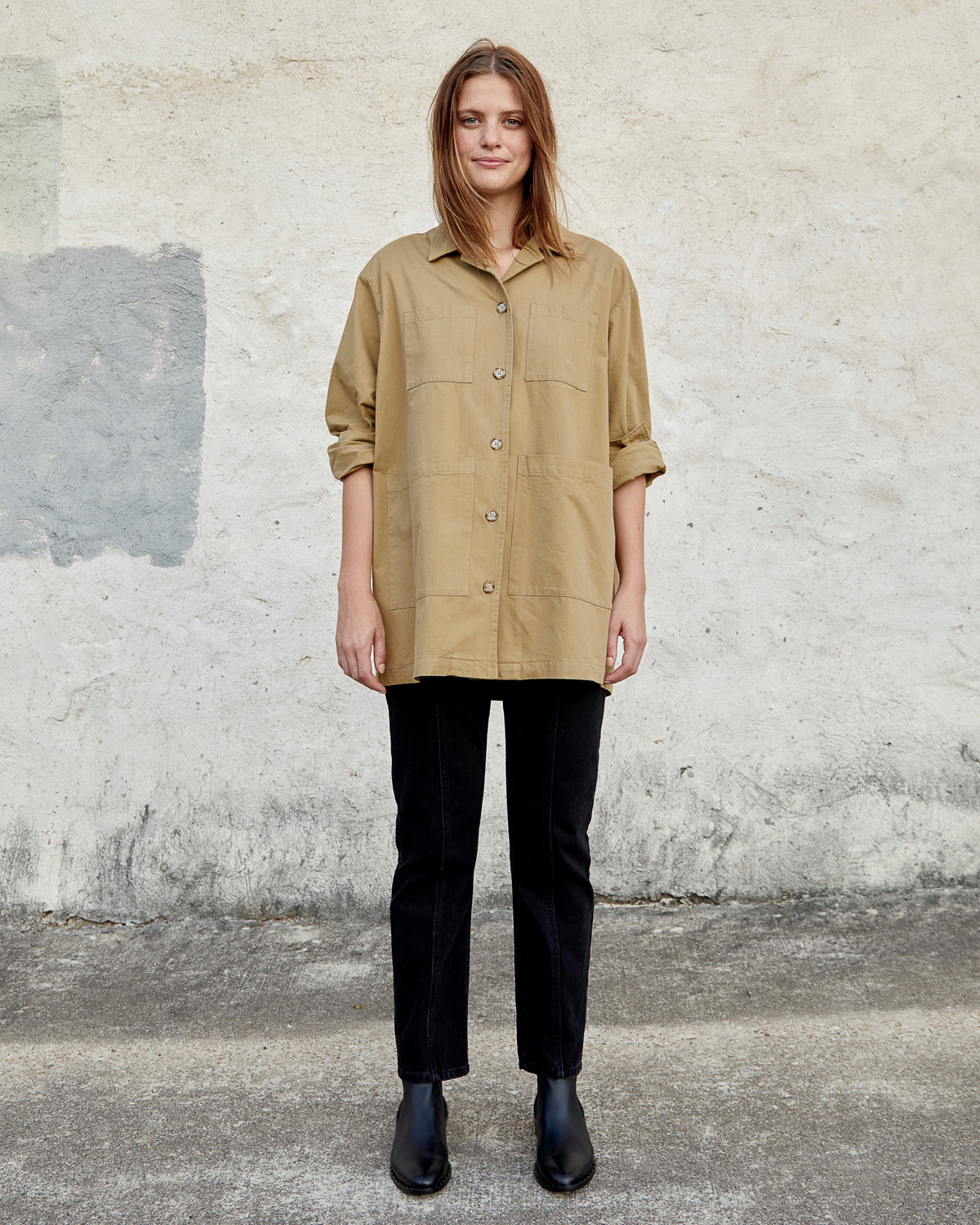 SAMMIE WORKSHIRT - CAMEL