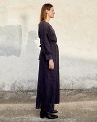 SUZANNA DRESS - MIDNIGHT WINDOWPANE