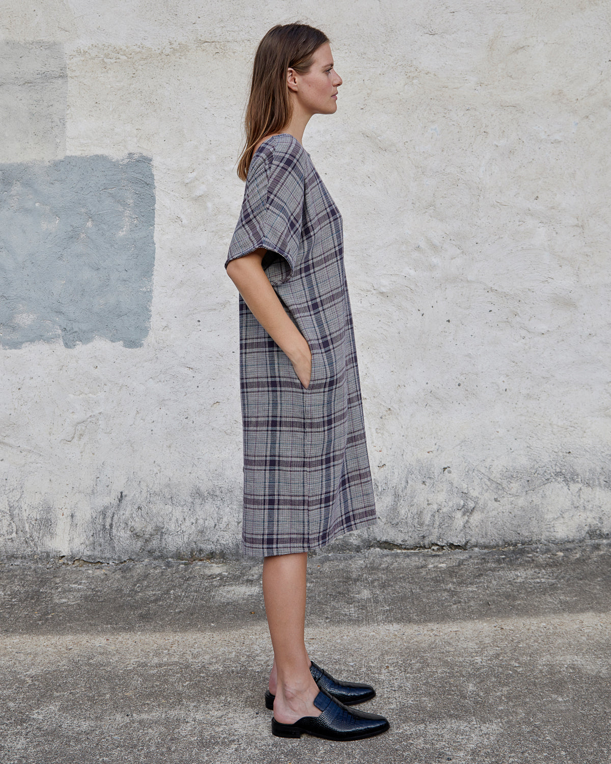 MACI DRESS - MIDNIGHT VINTAGE PLAID