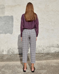 NOELLE PANT - MIDNIGHT VINTAGE CHECK