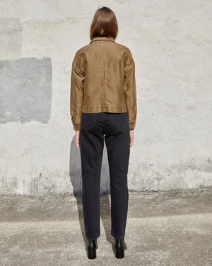 Load image into Gallery viewer, MORA MILITARY JACKET - OLIVE MOLESKIN