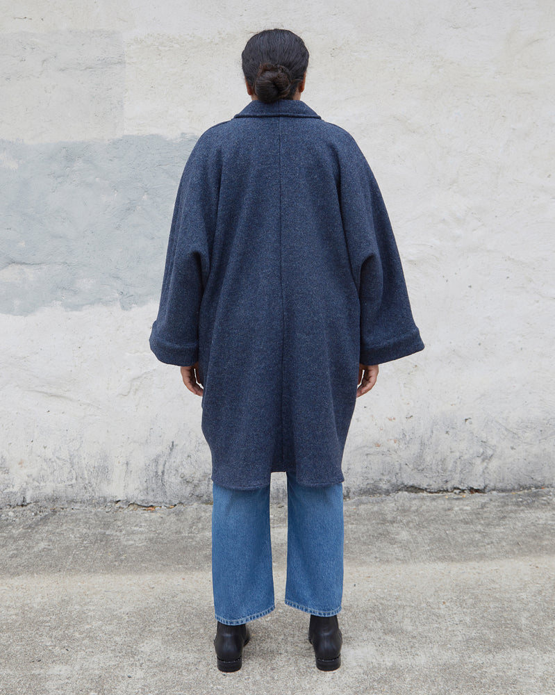 CORA DUSTER - CADET BLUE WOOL