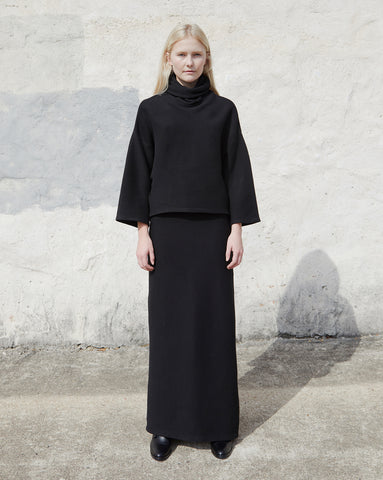 JOANNA SKIRT - BLACK RIB