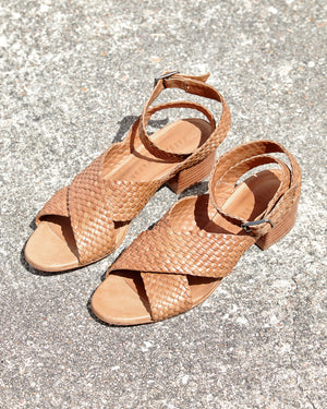 Load image into Gallery viewer, FREDA SALVADOR - PATINA WOVEN SANDAL - CAMEL