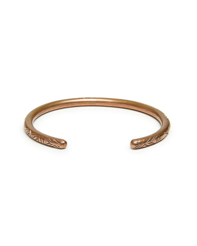 FORTUNE THICK CARVED BRACELET - MEDIUM/COPPER