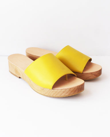 THE PALATINES - EMANO FLATFORM SANDAL - CURRY
